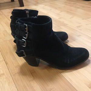 Sam Edelman black buckle booties